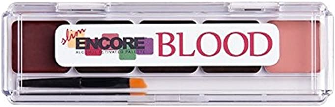 Encore BLOOD Slim Palette - Activator and Sponge Included - Alcohol Activated Palette - by European Body Art