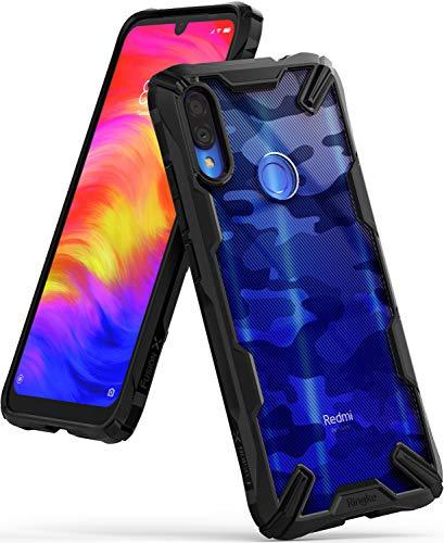 Ringke Fusion X Design Compatible with Xiaomi Redmi Note 7 Case, Redmi Note 7 Pro Case Protective Cover - Camo Black