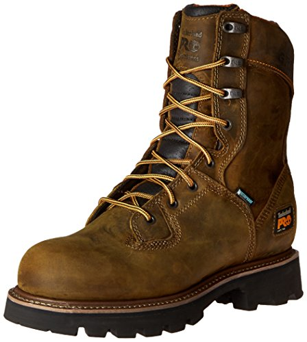 Timberland PRO Men's 8 Inch Crosscut Waterproof Soft Toe Logger Work Boot