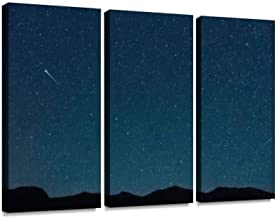 Shooting star near the Big Dipper, Engadine Modern 3D Wall Art Painting on Canvas Stretched Framed Prints Picture Photography Home Office Decoration Artwork 3 Pieces