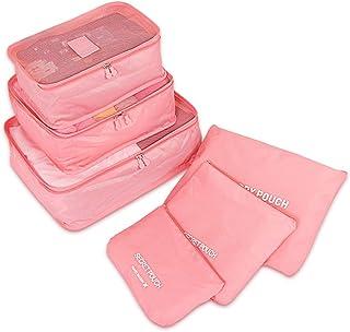 حقيبة السفر المنظم مجموعة حقائب الأمتعة المنظمات لطيف مكعبات التعبئة مجموعة من 6