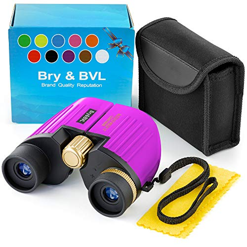 Outdoor Exploration Kit, Children's Toy Binoculars, Great Kids Set for Camping, Hiking, Educational and Pretend Play - Toys Kids for Boys & Girls Age 3-12 Year Old Camping Hiking (Purple)