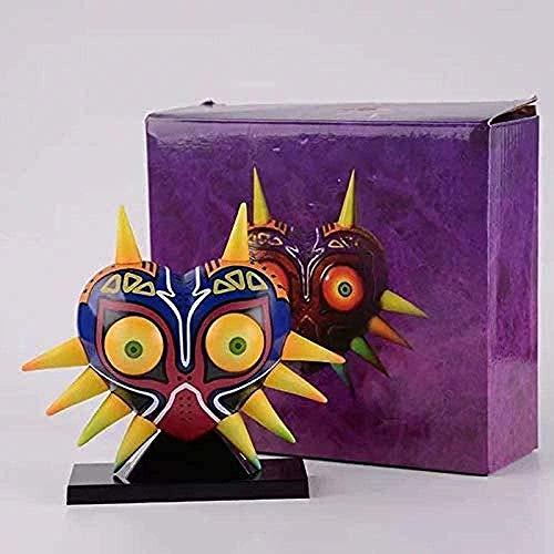 Nobranded 12cm The Legend of Zelda Majora Mask Máscara Majoras con lámpara de Mesa Luminosa PVC Figuras de acción Juguetes Anime Figura Juguetes para niños