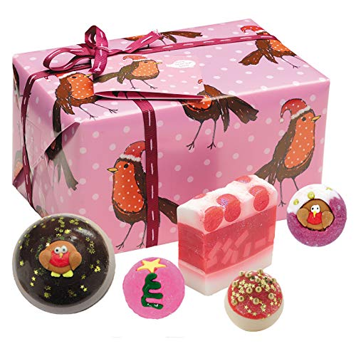 Bomb Cosmetics Rockin' Robin Handmade Wrapped Bath and Body Gift Pack, Contains 5-Pieces, 350 g [Contents May Vary]