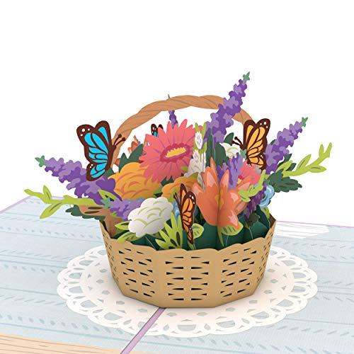 Lovepop Flower Basket Pop Up Card - Card for Mom, Card for Wife, 3D Card, Flower Card, Spring Card, Greeting Card, Spring Card, Thank You Card, Appreciation Card