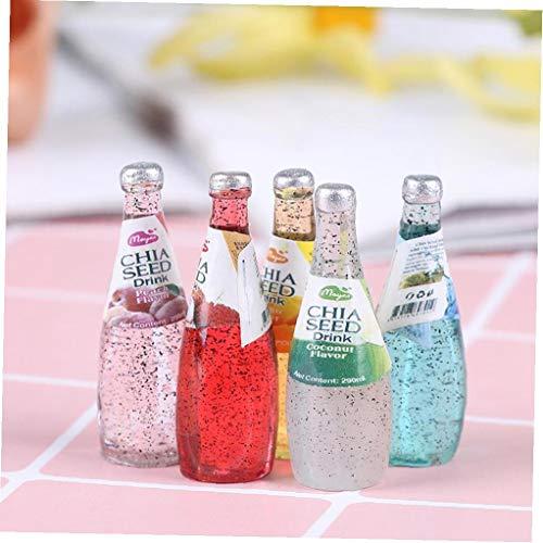 LAVALINK 1pcs Mini Botellas De Agua De Casa De Muñecas Accesorios De Juguete De Regalo Miniaturas Accesorios Alimento De La Cocina Sala De Estar Hijos Aleatoria Estilo
