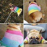 Sefod ペット犬服 ニットセーター Tシャツ 秋冬服 小型犬 中型犬 衣装 可愛い 柔らかい 暖かい 防寒 コート ファッション 犬の服 散歩 お出かけ ドッグウエア ペットウェア ベット用品