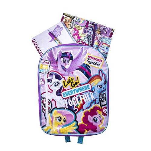 My Little Pony Plecak zestaw artykułów piśmienniczych, plecak z wypełnieniem papierniczym, (dł.) 30 cm x (szer.) 10,5 cm (wys.) 38 cm