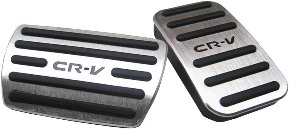 RED XITER No Drill Anti-Slip Aluminum Gas Brake Pedal Cover Foot Pedal Pads kit For Honda CR-V CRV 2017 2018 2019 2020