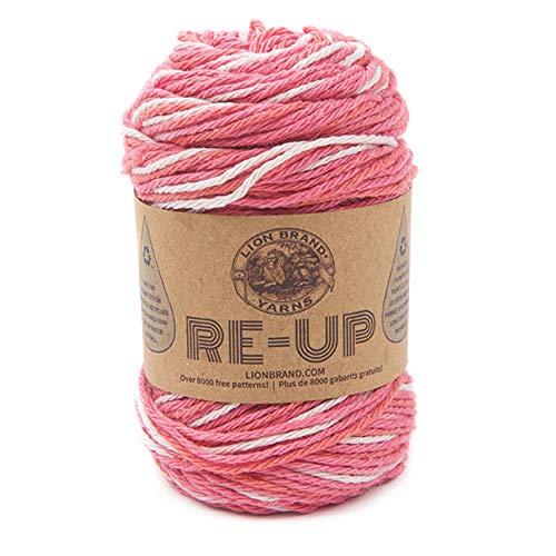 Lion Brand Yarn Company Filo RE-UP BOMBLE, Bubble Gum, taglia unica