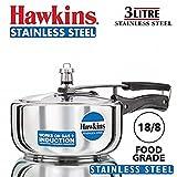 Hawkins B60 Pressure Cooker, 3 L, Silver