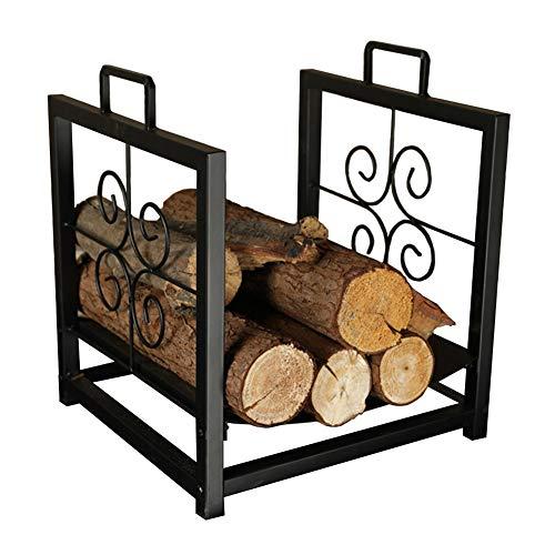 Best Deals! Outdoor Firewood Racks with Curved Bottom - Premium Metal Frame Log Storage Holder for P...