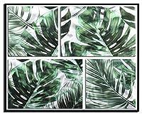 【現代アート工房】 メタルアート 現代絵画 立体感のあるモダンアート ハンドメイド作品 ナチュラルライン 植物D 2FMA-849 40×40cm-2 60×40cm-2