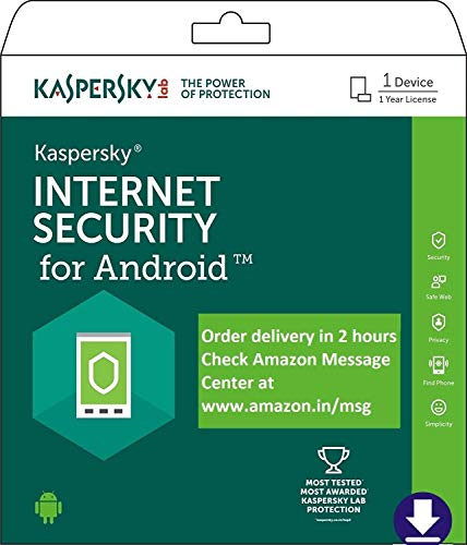 Kaspersky Internet Security for Android Latest Version- 1 Device, 1 Year (Code emailed in 2 Hours - No CD)
