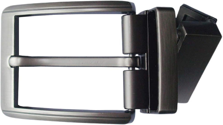 EsES hebilla de cintur/ón s/ólida de aleaci/ón de zinc macho,EsES hebilla giratoria de cintur/ón reversible 1-3//8 35mm