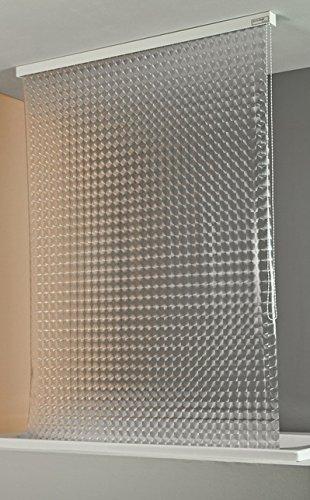 ECO-DuR 4024879002404 Kassetten Duschrollo 134 cm silber - Kreisel