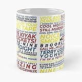 Taza de café de cerámica blanca con diseño de león hipster con gafas de sol y auriculares, regalo divertido para mujeres, hombres, niños, mamá, papá, amigos