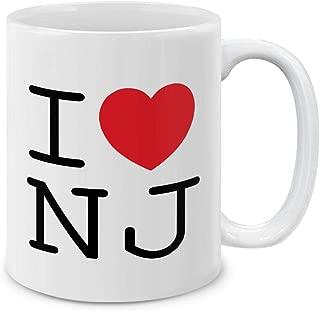 MUGBREW I Love NJ New Jersey Ceramic Coffee Gift Mug Tea Cup, 11 OZ