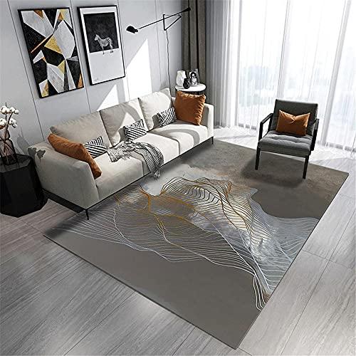 Alfombra Verano Salon,Manta Serial Anti-Patinaje del balcón Anti-Patinaje, Alfombra Gris ,alfombras para Salon -Gris_160x230cm