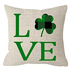 St. Patrick's Day love pillow.
