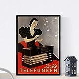 Nacnic Vintage Poster Ad-Telefunken-Radio Vinate 1935