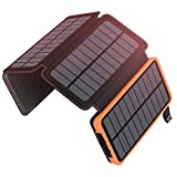 ADDTOP Solar Charger 25000mAh Portable Solar Power Bank with Dual 2.1A Outputs...