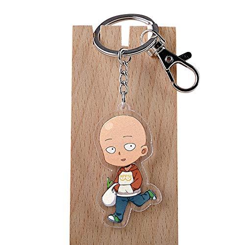 ALTcompluser Anime One Punch Man Karabiner Schlüsselanhänger Saitama Schlüsselbund Acryl Anhänger, Dekoration für Handy/Tasche/Rucksack/Schultertasche/Gepäck(Motiv 4)