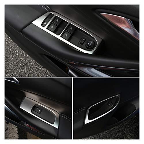 ZHIXIANG Interior Puerta Panel Ventana Botón Trim con Bezel Garnish Cubiertas Ajuste para Opel Astra K 2016 2017 2018 2019 Accesorios Accesorios Coche Estilo (LHD)