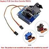 MakerFocus Raspberry Pi 4B Servo Motor Controller PWM Kit, 2-DOF Pan-Tilt HAT for RPi Light Intensity Sensing Control Camera Movement I2C, Onboard PCA9685 Chip Compatible with RPi 3B+ 3B Jetson Nano