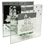 Decoline Glas Teelichthalter für 1 Teelicht - Motiv Kerzen