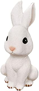 Vosarea Rabbit Small Ornament Resin Craft Small White Ornaments Bunny Resin Figurines Home Decoration