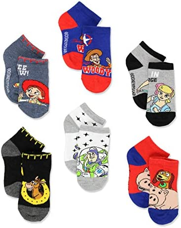Disney Toy Story 4 Toddler Teen Boy s Girl s Adults 6 pack Sock Set Shoe 7 10 Sock 4 6 Blue product image