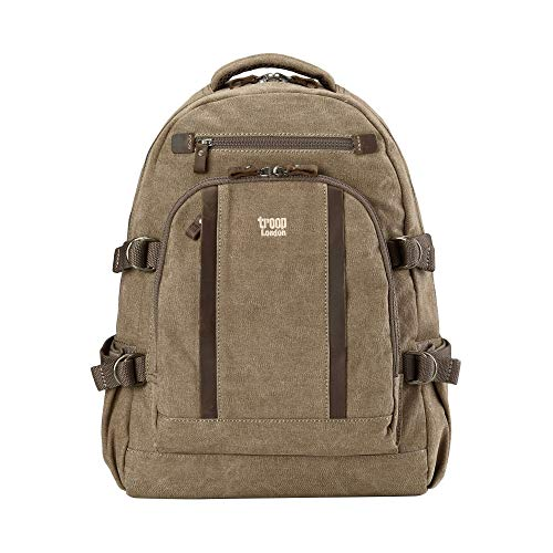 Classic Large Canvas Backpack, Rucksack - TRP0257 - Troop London Farbe Brown