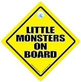 little monsters a bordo señal de coche, Baby on Board , bebé a bordo CARTEL, little Monster Placa, Pegatina De Parachoques, pegatina, Adhesivo Coche, NIETO A BORDO, claro Placa Coche, claro Placas