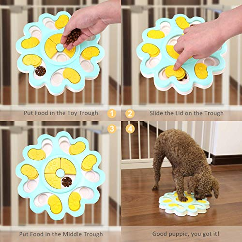 Product Image 6: Kismaple Dog Treat Puzzle. Activity Interactive Fun Game IQ Training Toy Food Dispensing Puzzle Slow Feeder Plate/Non-Slip.