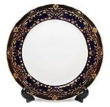 Royalty Porcelain Set of 6 Dinner Plates, Vintage...