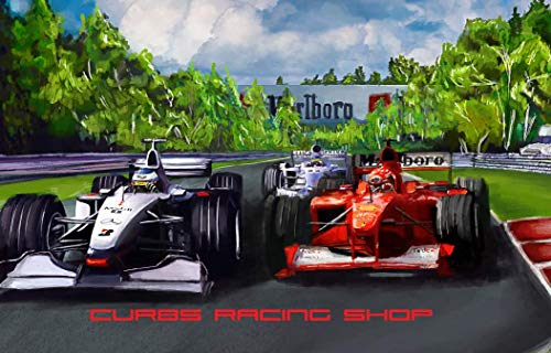 curbs racing shop Formel 1 / F1 Poster Spa Ferrari Mercedes Michael Mika