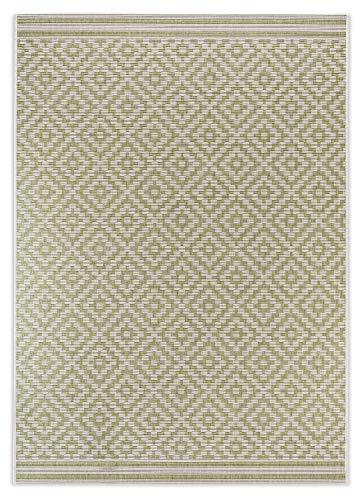 In- und Outdoor-Teppich Diamond Raster Green 140x200cm aus Kunststoff für Innen und Außen