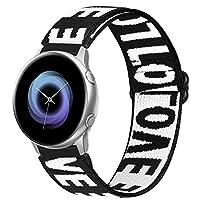 Onetmpre 20mmナイロン弾性交換ストラップ、調節可能なスポーツリストバンド。 Samsung Galaxy Watch 3 41mm / Galaxy Watch Active 40mm / Active 2 44mm / Galaxy Watch 42mm / Gear Sport / S2Classicなどと互換性があります。 (20mm, LOVE)