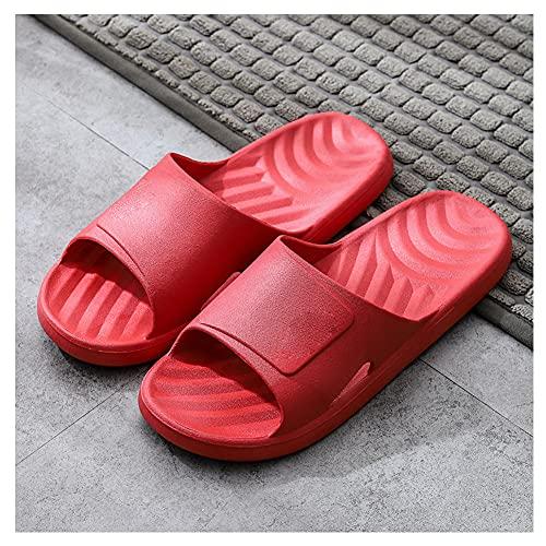 Comodas Chanclas Mujer PVC Ducha Playa y Piscina Slide Zapatilla De Baño Zapatos De Piscina Sandalias De Interior Sandalias Suaves Zapatillas Para El Baño/D / 36~37