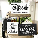 Huray Rayho Coffee Tiered Tray Decor Rustic Coffee Bar Signs Farmhouse Rae Dunn for Fun Kitchen Collection Coffee Station 3D Signs Muglife