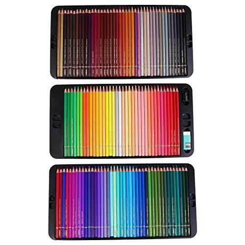 NUOBESTY 120 lápis de cor para desenho de arte numerada para livros de colorir para adultos, desenho artístico, esboço, artesanato, sombreamento, iniciantes, coloridos