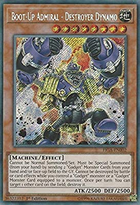 Yu-Gi-Oh! - Boot-Up Admiral - Destroyer Dynamo - FIGA-EN002 - Secret Rare - 1st Edition - Fists of The Gadgets from Yu-Gi-Oh!
