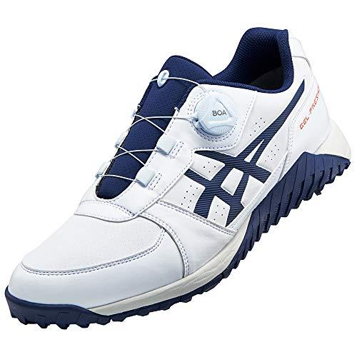 アシックス(asics) ゲルプレショット ボア ゴルフシューズ 1113A003 100 ホワイト/ピーコート 25.0cm