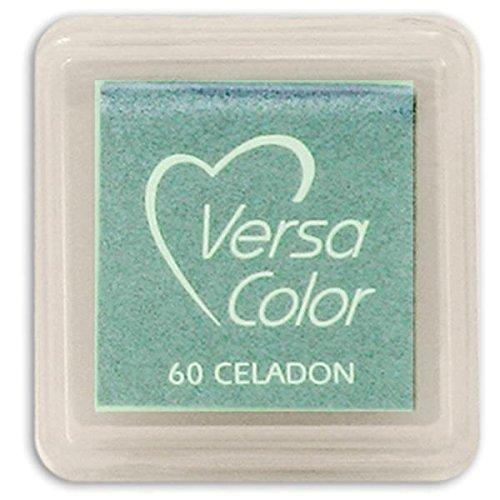 Versasmall VersaColor Stempel Stempelkissen klein Cube 25× 25mm Pigment Seladongrün