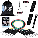 Fitness Insanity Resistance Band Set - Include 5 Stackable Exercise...
