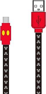 グルマンディーズ ディズニーキャラクター/Type-C対応同期&充電ケーブル ミッキーマウス dn-528a