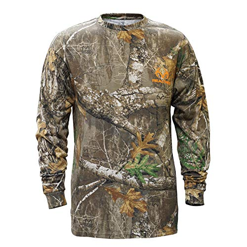 Staghorn Mens All Over Camo Long-Sleeve Tee Shirt, Realtree Edge Frame, X-Large