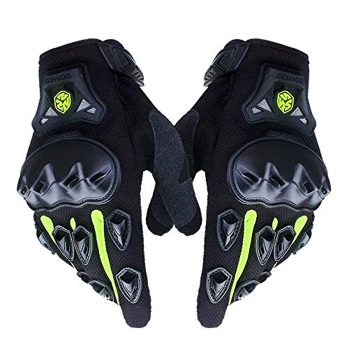 SCOYCO Men's Gloves Black,with Microfiber Hard Knuckle,Waterproof,Breathable, Powersports,Motorbike,Scooter,Motorcycle Glove.(RED,XL)