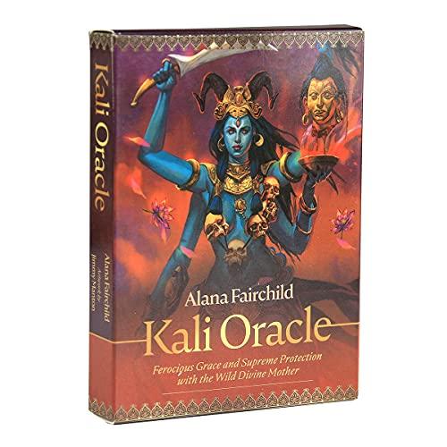 Tarot inspirado en el mundo y libro de noticias para principiantes de juego de cartas (color: Kali Oracle)
